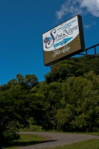 The sign marking to entrance to Selva Negra along the highway heading North from Matagalpa towards Jinotega.  Matagalpa is the southern most of the signifant coffee growing regions in Nicaragua (along with Jinotega, Nueva Segovia and Madriz).