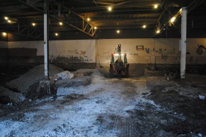 December 2011 - Excavation of the old floor.
