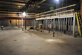 March 2012 - The new floor was poured and the mezzanine was starting to take shape.