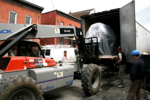 May 2012 - The roaster being delivered.